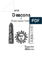 Advice for Deacons of E.G.C. - Dionysus Soter & Sabazius