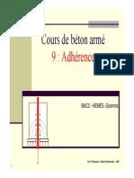 Adherence béton-acier