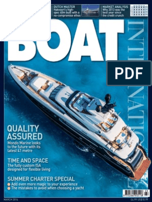 Boat International - March 2014 UK | Yacht | Watercraft