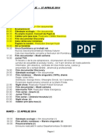 Program Tvh 21 Aprilie- 27 Aprilie