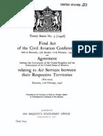 Bermuda Civil Aviation Conference US UK 1946
