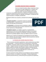 PROCESO DE DISEÑO ARQUITECTONICO E INGENIERIA