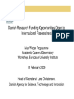 Denish Research Funding Opportunities