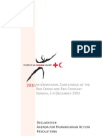 Resolutions of the 28th International conference of the Red Cross and Red Crescent