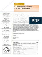 Class of 2014 Newsletter English Version