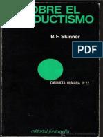 b f Skinner Sobre El Conductismo