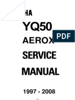 68552232 Yamaha YQ50 Aerox YQ 50 Service Repair Manual 1997 08