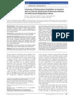 Comparative Effectiveness of Noninvasive Ventilation vs Invasive in COPD