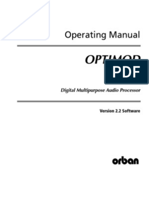 ORBAN 6300 2 2 0 Operating Manual | Ac Power Plugs And