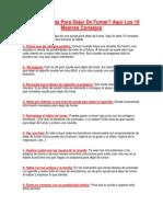 Buscas Ayuda Para Dejar De Fumar Aquí Los 10 Mejores Consejos
