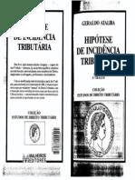 Geraldo Ataliba - Hipótese de Incidência Tributária (1)
