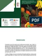 Manual de recetas para transformación de alimentos