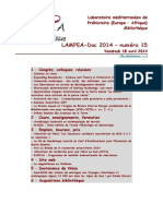 LAMPEA-Doc 2014 – numéro 15 / Vendredi 18 avril 2014