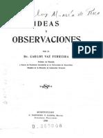 Vaz Ferreira, Carlos - Ideas y Observaciones, 1905