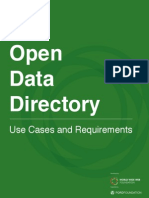 Open Data Directory - Use Cases and Requirements