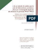 Validacion de Un Metodo HPLC en PM10 y PM2.5