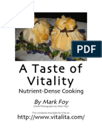 A Taste of Vitality - Mark Foy