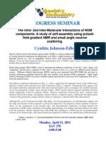 Progress Seminar Flyer-Johnson