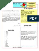 April 18 Newsletter