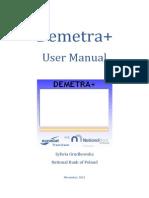 Demetra+ User Manual November 2012