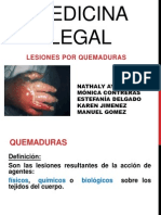 Medicinal Legal Quemaduras