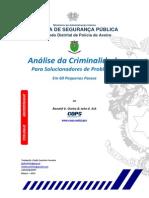 analise da criminalidade para solução de problemas