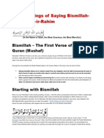 The Blessings of Saying Bismillah