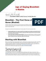The Blessings of Saying Bismillah