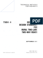 TMH 04 Geometric Design Standards for Rural Two-Lane Two-Way Roads