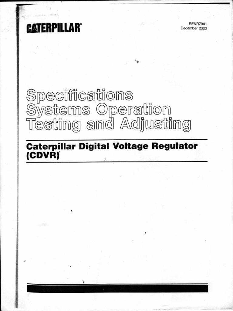 Caterpillar Digital Voltage Regulator _ Service Manual | Electrical  Connector | Electric Generator
