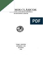 Revista de Estudios Clásicos 109. 1996.