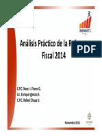 Análisis práctico de la Reforma Fiscal 2014 271113
