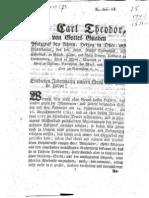 1790 Carl Theodor über das Illuminaten Verbot und der Weiterexistenz der Sekte