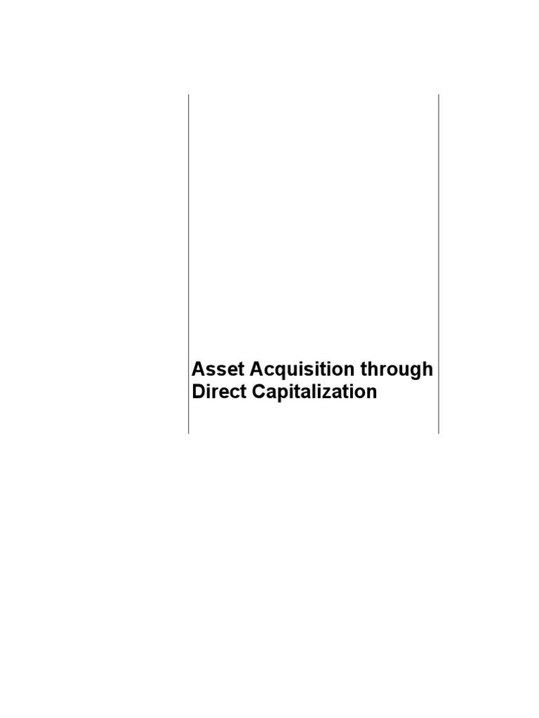 Asset Direct Capitalization | Accounts Payable | Invoice