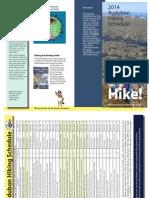 Audubon Hiking Schedule 2014