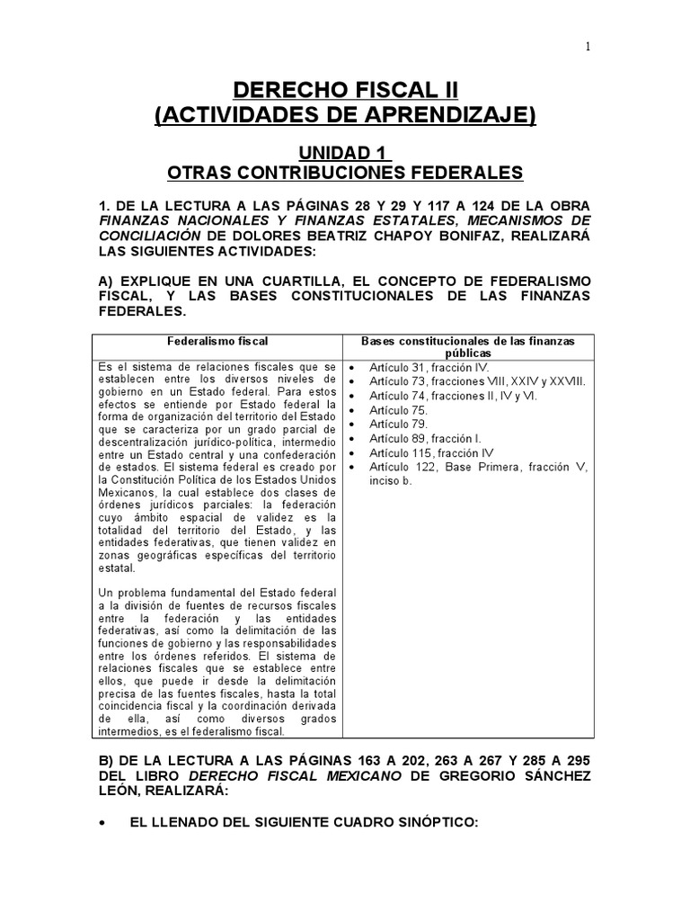 7.+Derecho+Fiscal+II+ +Actividades+de+Aprendizaje