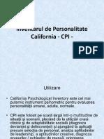 Inventarul de Personalitate California - CPI