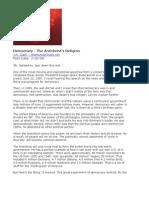 Democracy - The Antichrists Religion