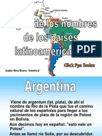 Origen de Los Nombres de Los Paises Latinoamericanos