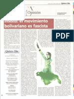 El movimiento bolivariano es fascista