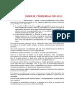 Contrato Cosmico de Prosperidad Ao 2013