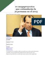 Los cuatro megaproyectos mineros que estimularán la economía peruana en el 2013