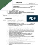 Jacki Kelly Teaching Resume 4.14
