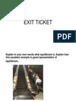 exit ticket equilibrium