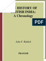 John F. Riddick the History of British India a Chronology 2006
