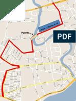 Mapas de nuevas rutas propuestas para el Servicio Urbano de Túxpan