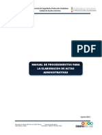 Manual de Actas Administrativas