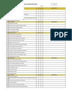 Capacitación de empresas locales para el Proyecto Chicontepec. Formato de lista de Verificacion QHSE. Implementada por Corbera Networks (The Integral Management Society)