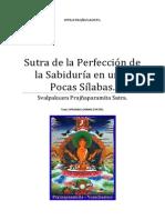 Sutra de La Perfección de la Sabiduría en unas Pocas Sílabas