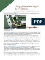 South Korea Ferry Prosecutors Request Arrest Warrant for Captain
